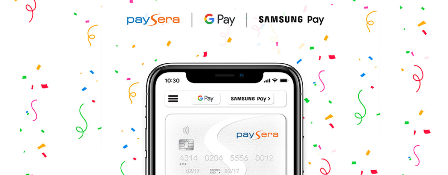 Paysera Introduces Google and Samsung Payments