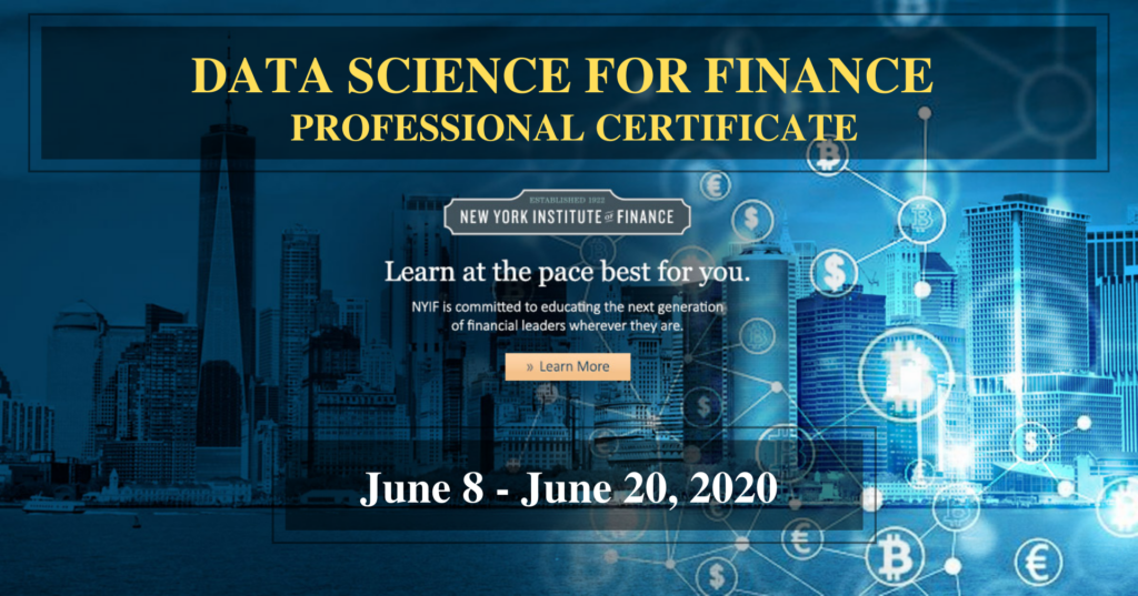 DATA SCIENCE FOR FINANCE PROFESSIONAL CERTIFICATE
